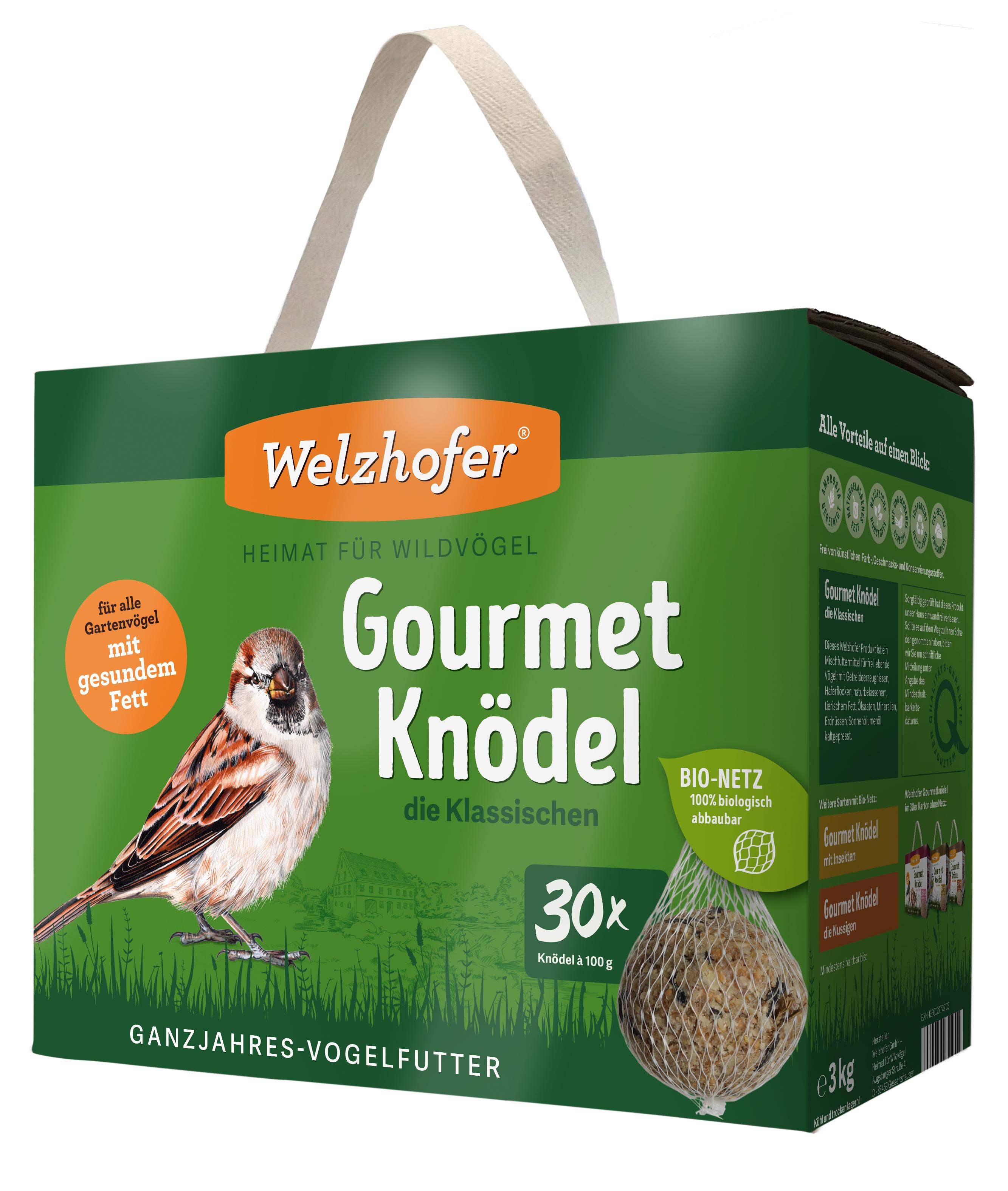 """Gourmetknödel """"die Klassischen"""" im Bio-Netz 30 x 100g"""