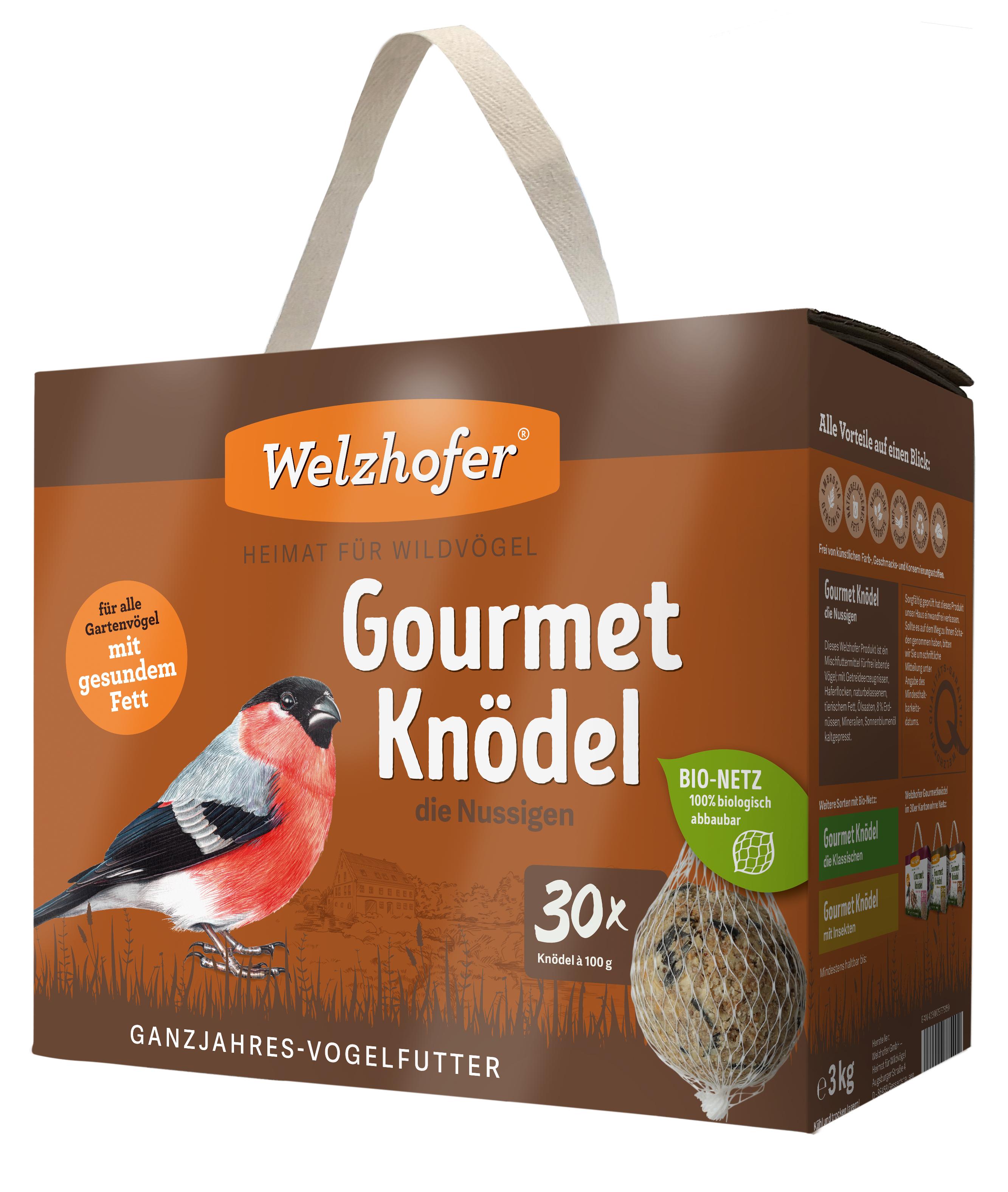 """Gourmetknödel """"die Nussigen"""" im Bio-Netz 30 x 100g"""